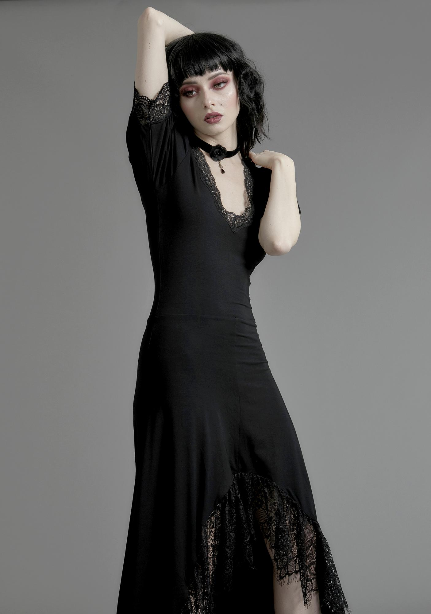 Widow Veil Of Night Maxi Dress