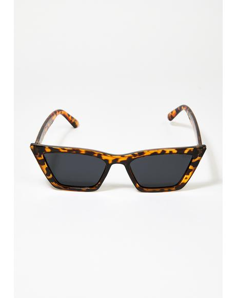 Tortoiseshell Rosey Cat Eye Sunglasses