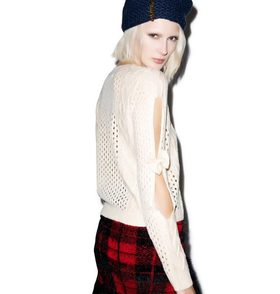 Darling QT Bow Sleeve Sweater