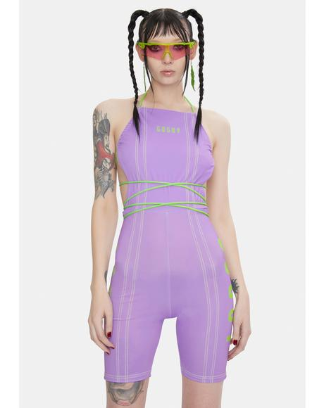 Lilac Strappy Unitard
