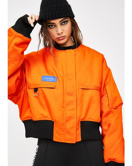 LH Orange Bomber Jacket