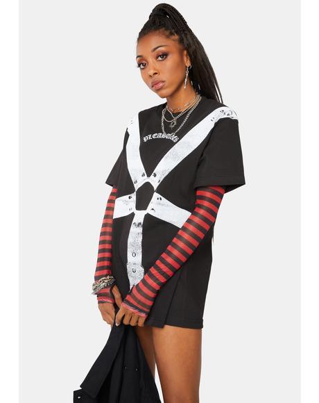 Black Harness Graphic Tee