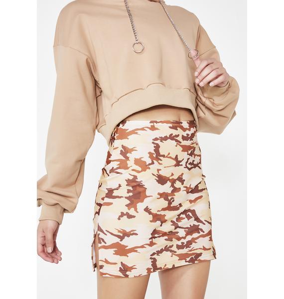 American Deadstock Sand Camo Mini Skirt