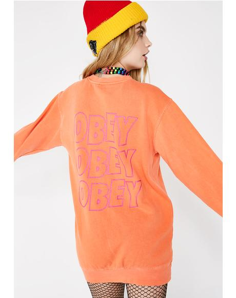 OBEY Static Jumble Crewneck Sweatshirt