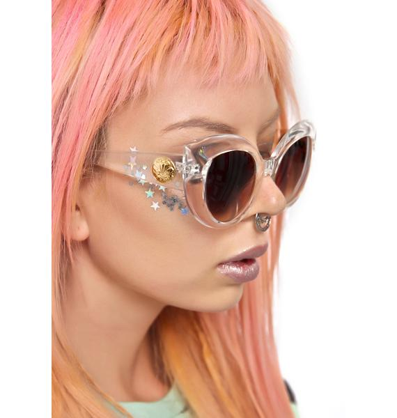 Crap Eyewear The Clear Diamond Brunch Sunglasses