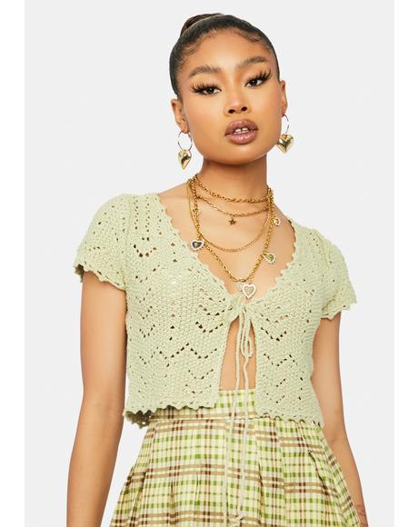Sage Collective Mood Crochet Crop Top