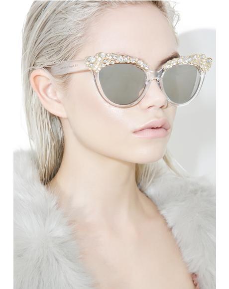 Ice Queen Cat Eye Sunglasses
