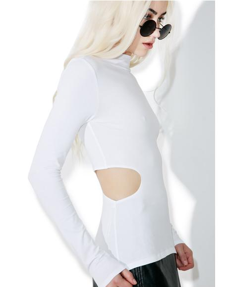 Side Cut Out Long Sleeve Tee