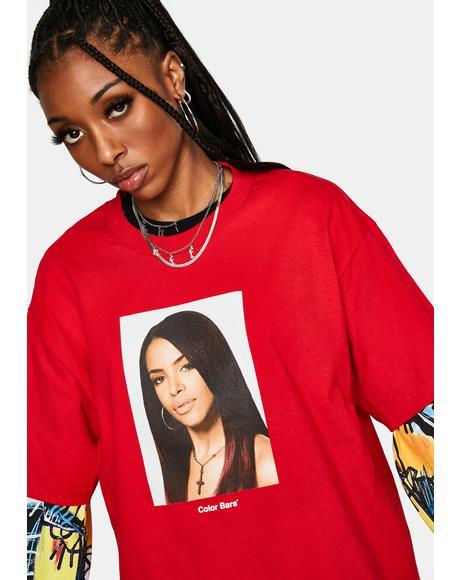 x Aaliyah Cherry Portrait Tee