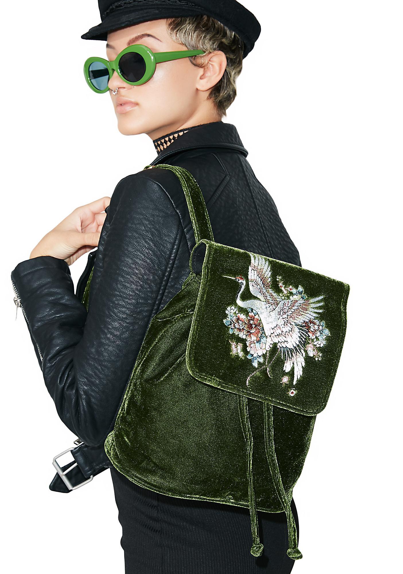 Good Fortune Velvet Backpack