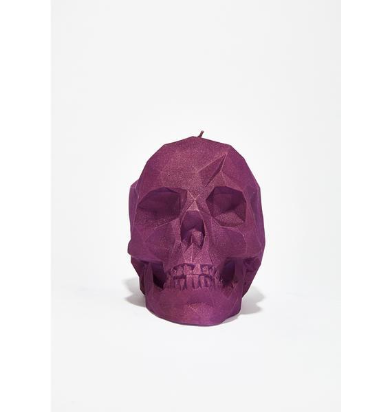 Face Melting Skull Candle