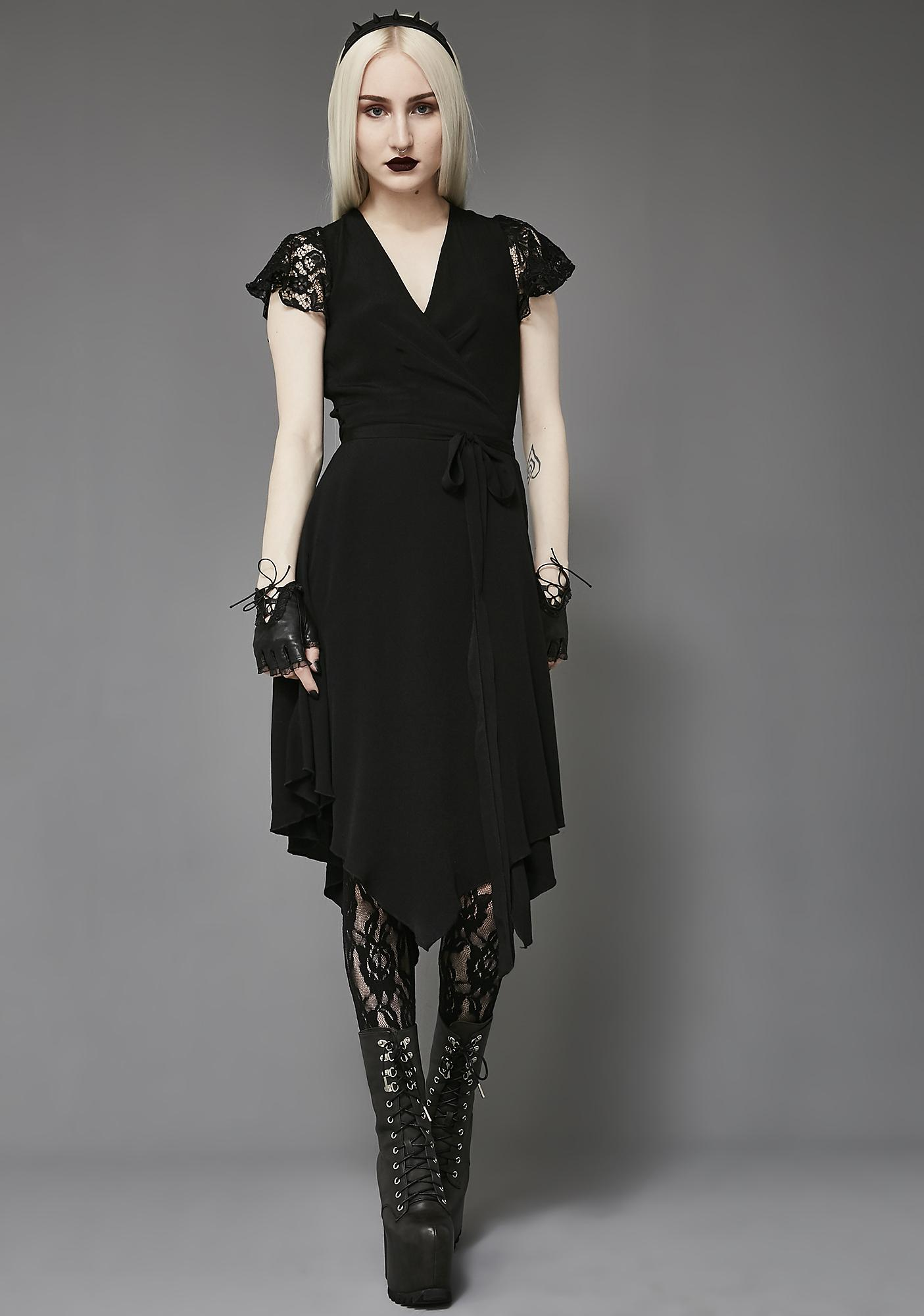 Widow Like Tears In Rain Wrap Dress