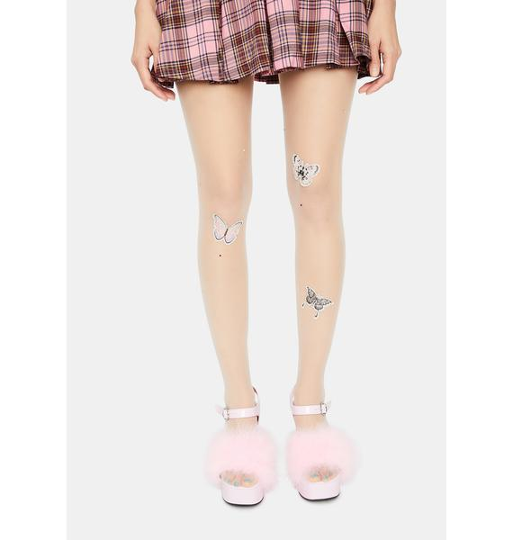 Butterfly Shimmer Sheer Tights