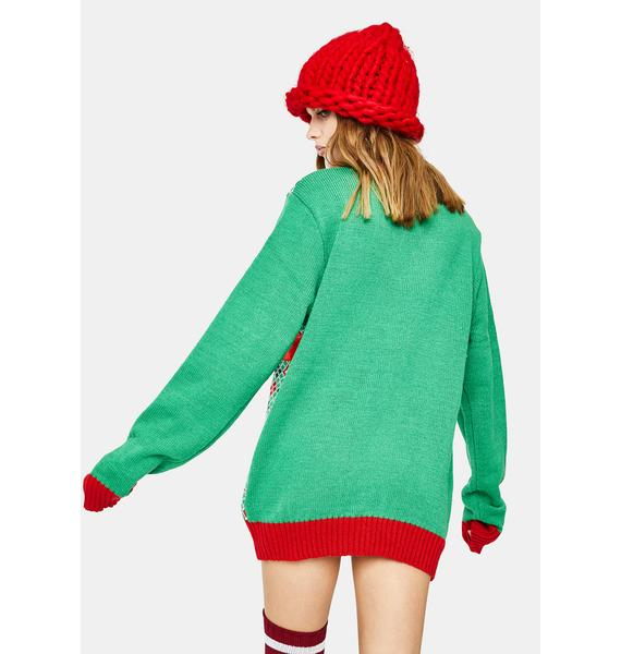 American Stitch Wrapped Present Sweater