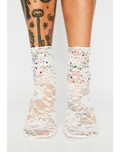 Prismatic Love Lace Socks