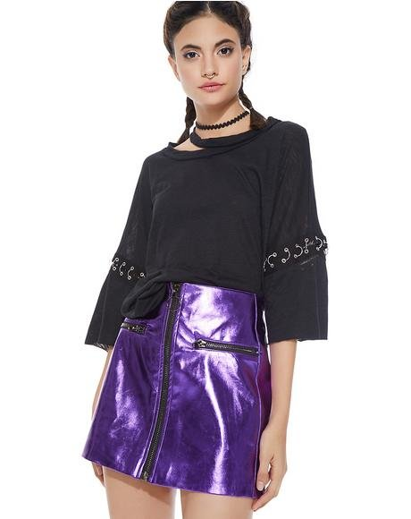Nebula Wade Shiny Skirt