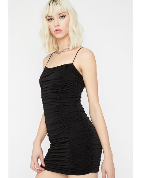 Stepping Out Ruched Dress