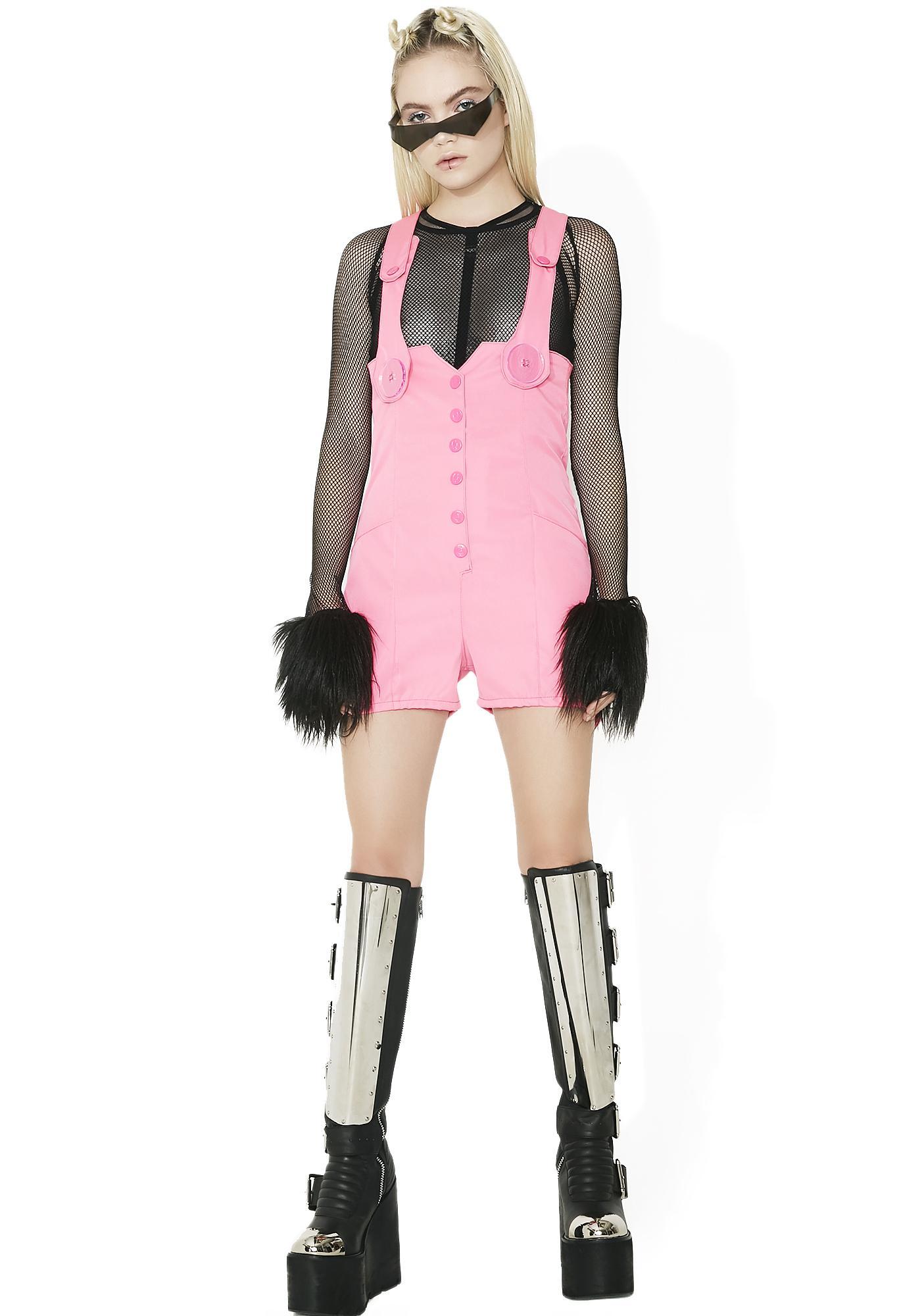 Cyberdog Pencil Playsuit Shorts