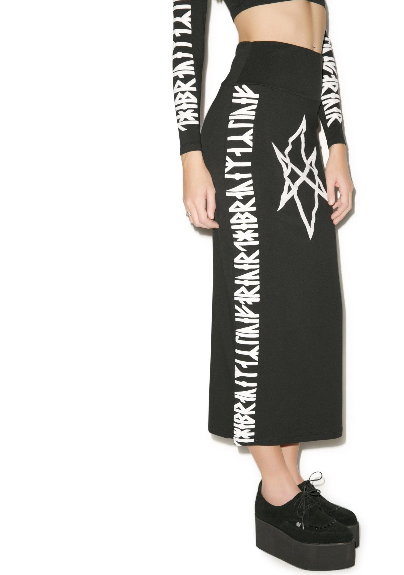 Long Clothing Hexagram Skirt