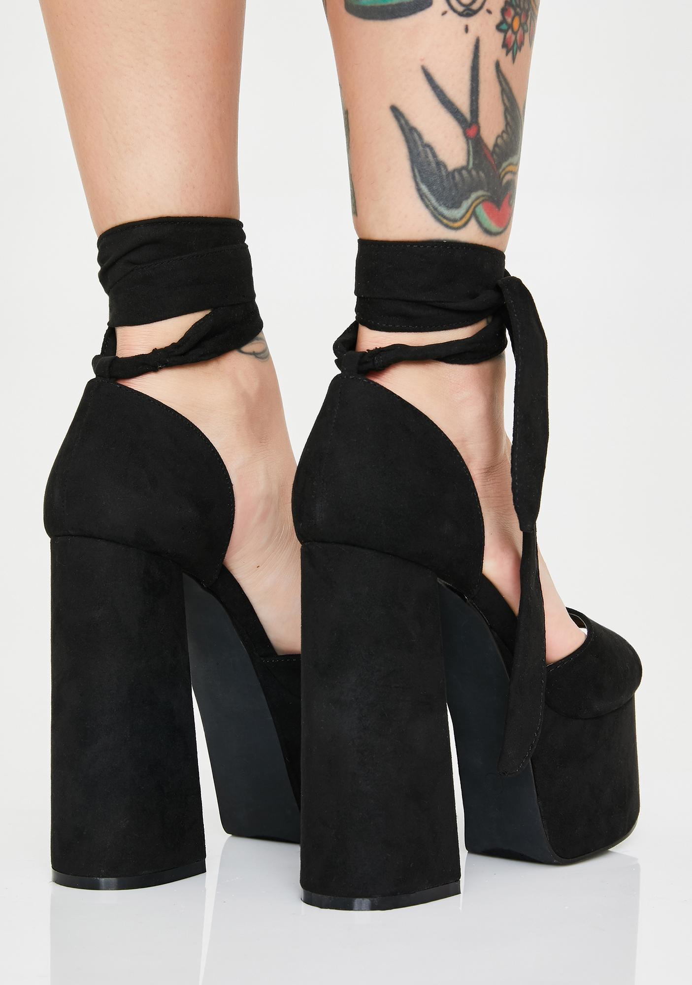 Night Cap Platform Heels