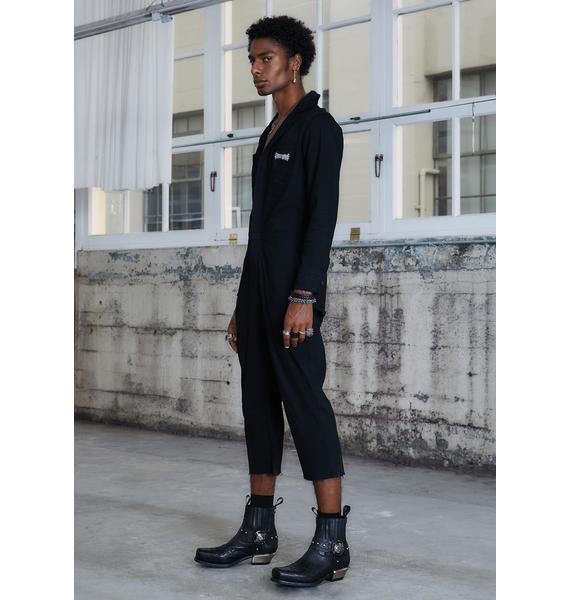 DARKER WAVS Kickdrum Woven Jumpsuit