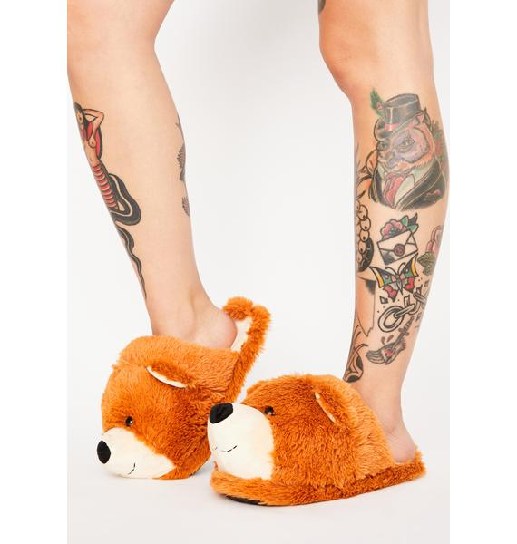 Goldilock's BFF Teddy Slippers