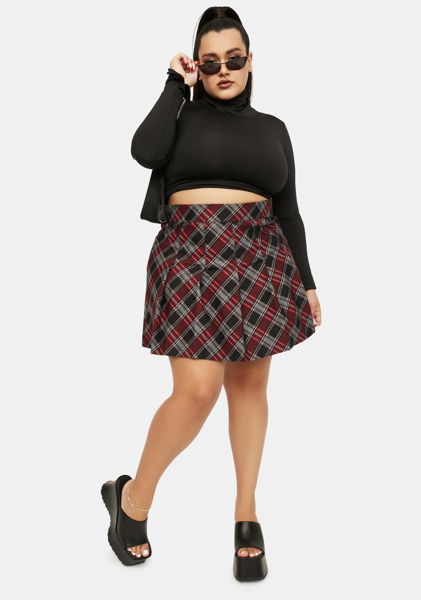Mulberry My Collegiate Cutie Plaid Mini Skirt