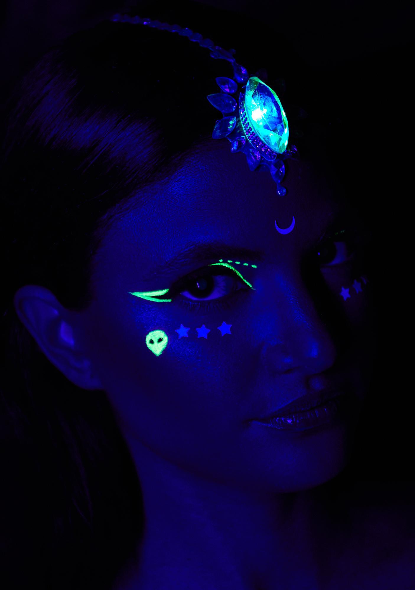 Festival Faces Group x Georgie Light Up Face Jewels