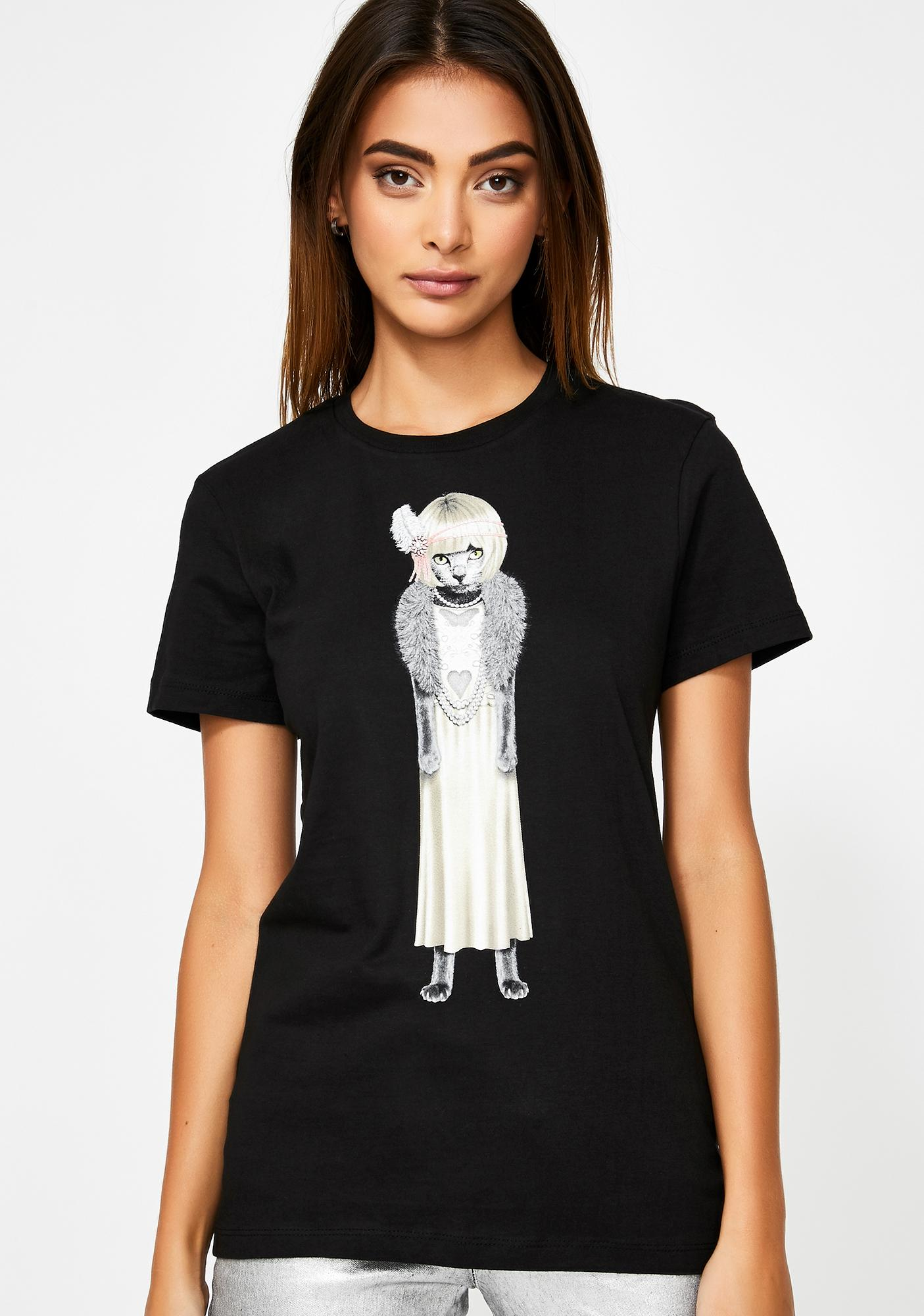 elevenparis. Daisy Cat Graphic Tee