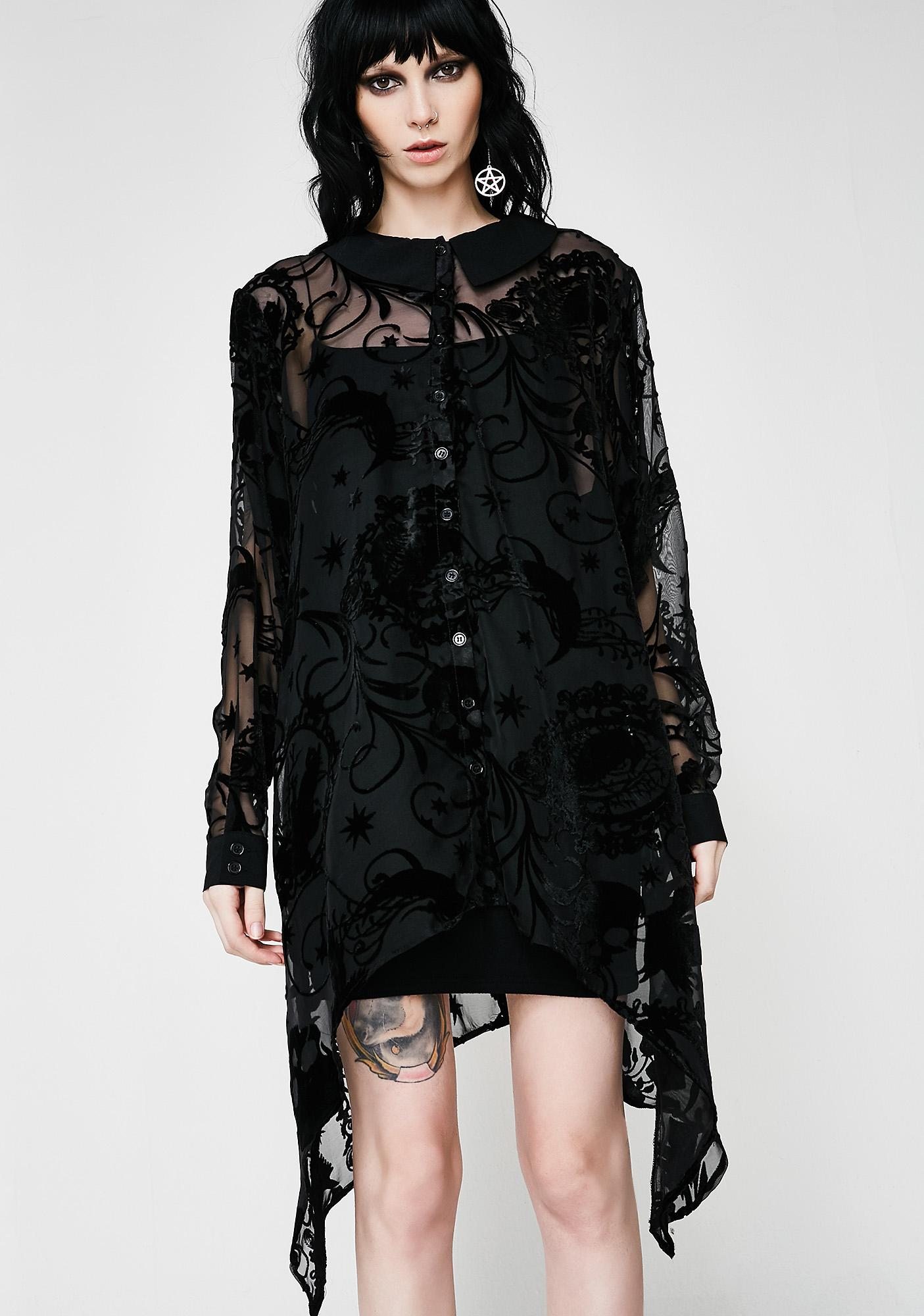 Hell Bunny Amoret Blouse