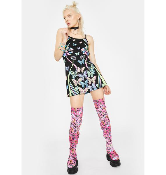 Club Exx Sonic Synergy Glow In The Dark Dress