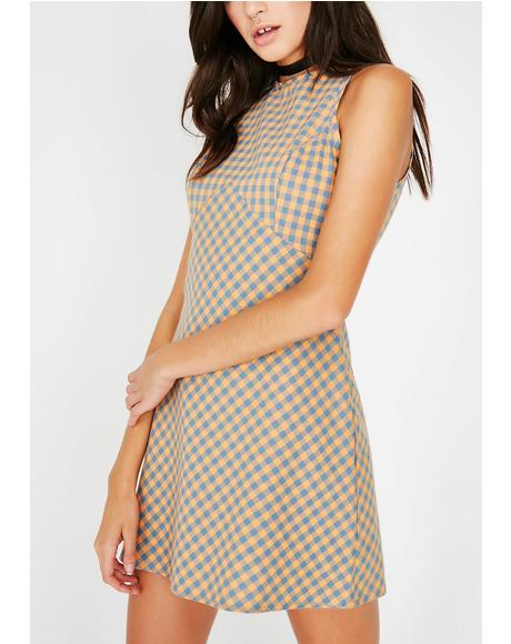 Always Right Plaid Dress