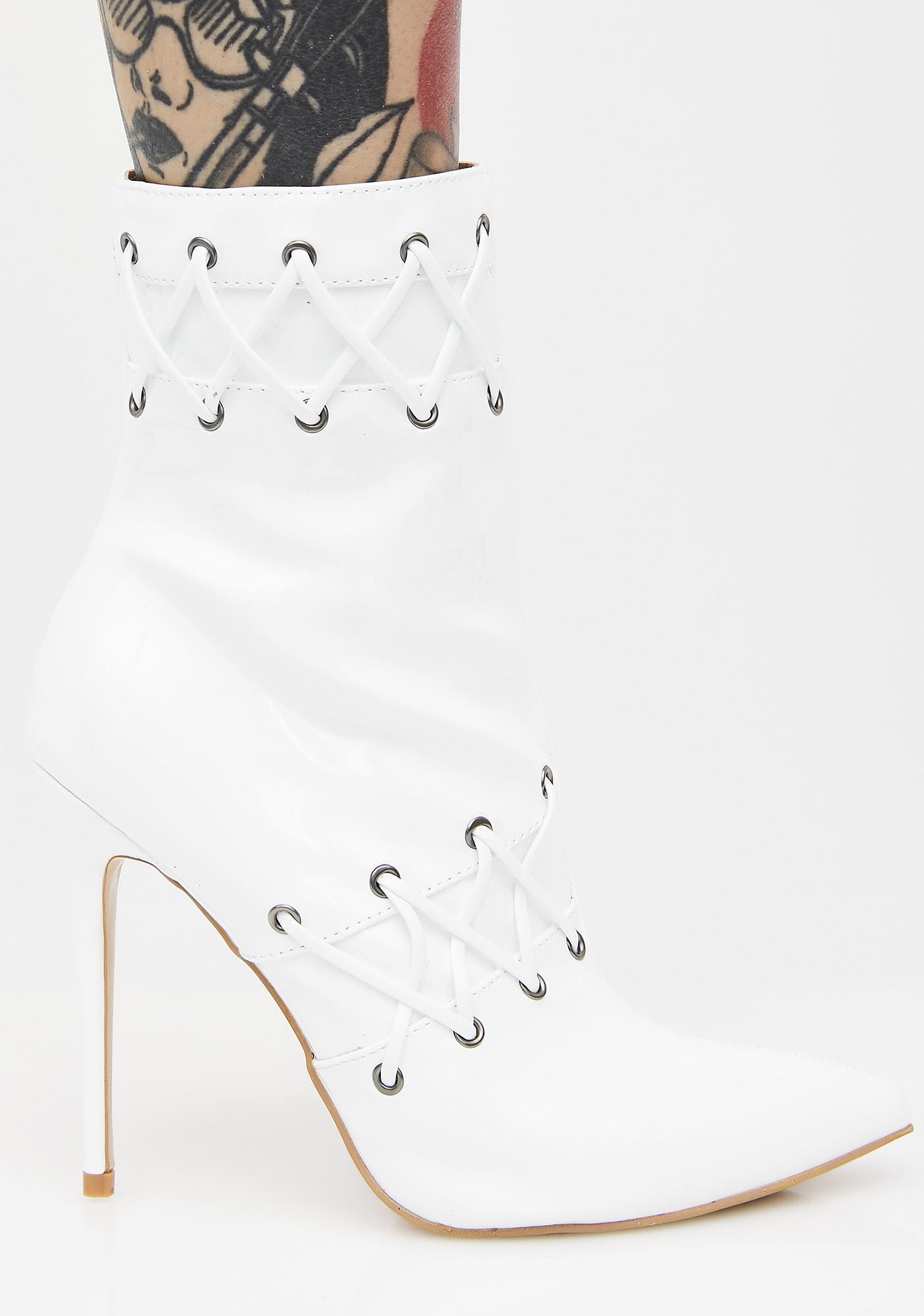 Public Desire Kenton Lace Detail Ankle Boots