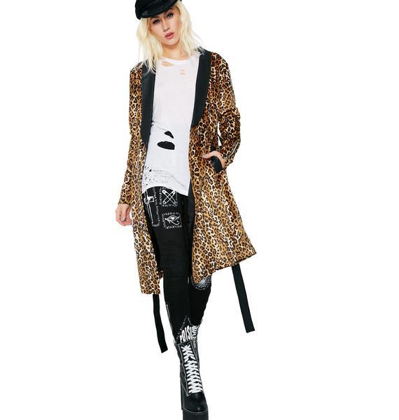 Current Mood Animal Instinct Leopard Robe