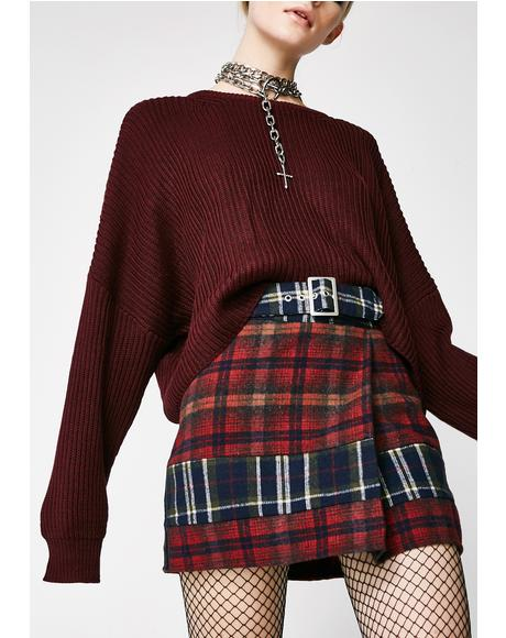 Class Act Plaid Skirt
