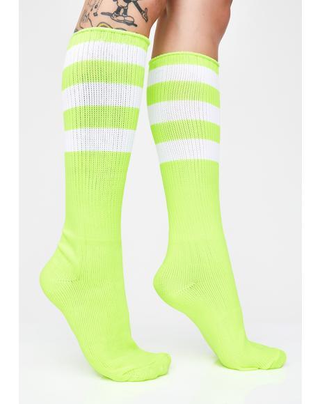 Glow Digger Stripe Socks