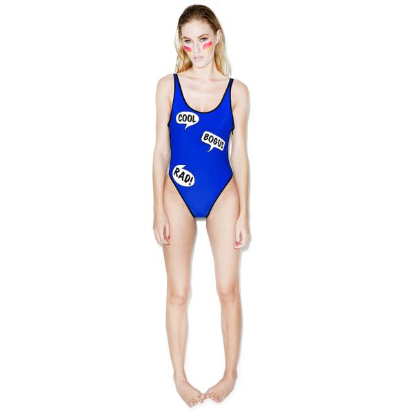Wildfox Couture Totally Rad 80s Zipper One-Piece