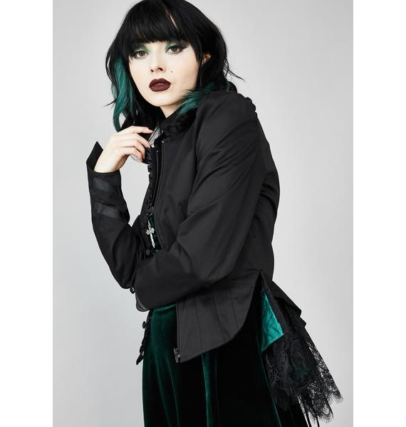Widow Reign Shadow Satin Blazer