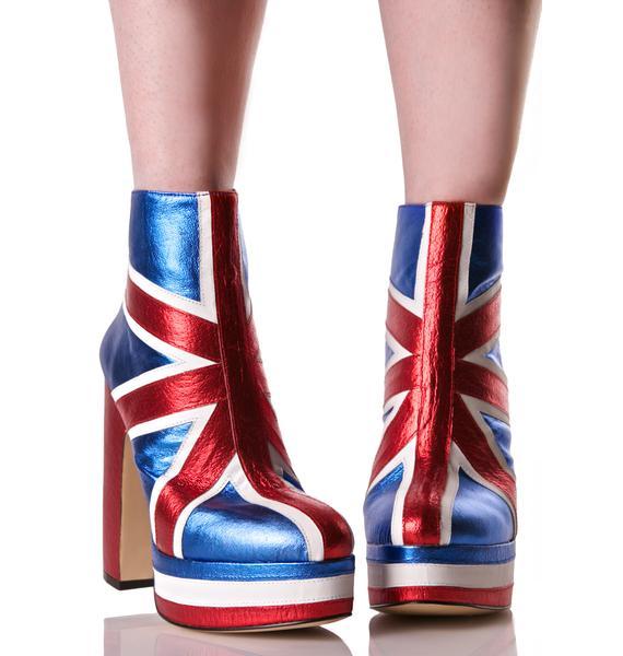 Shellys London Union Jack Boots