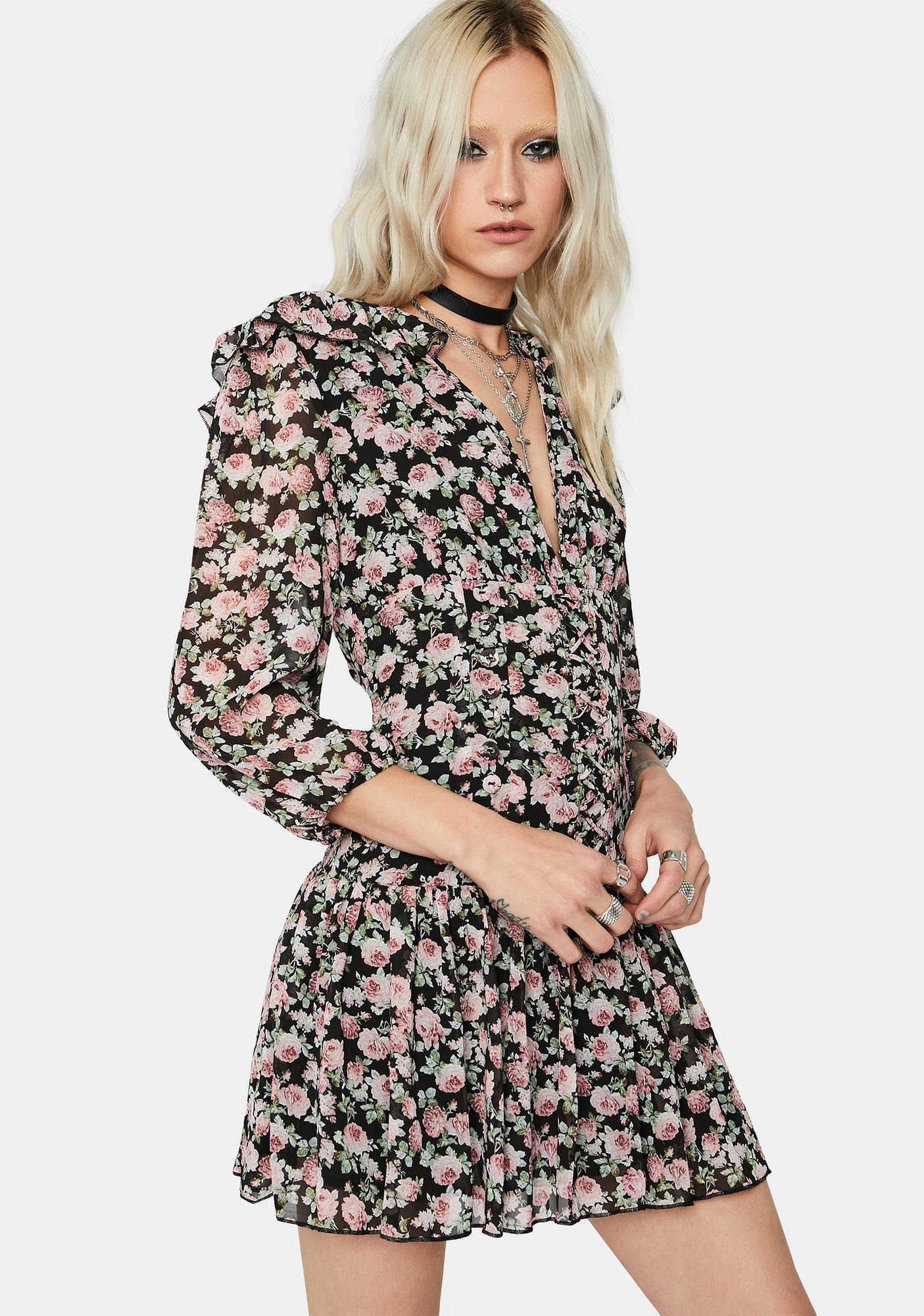 Lost Garden Floral Mini Dress