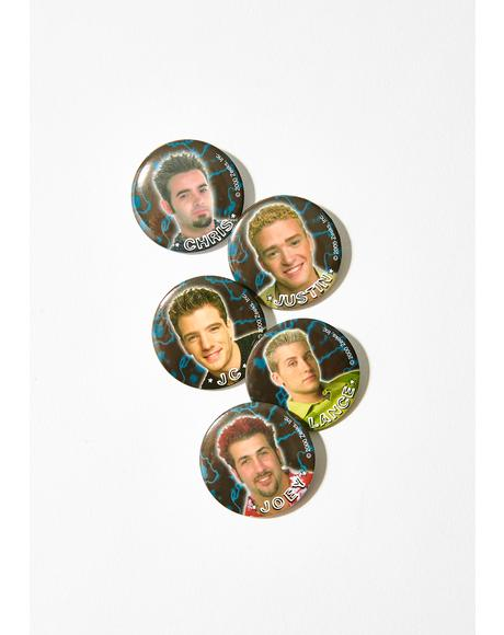 Vintage Nsync Button Set