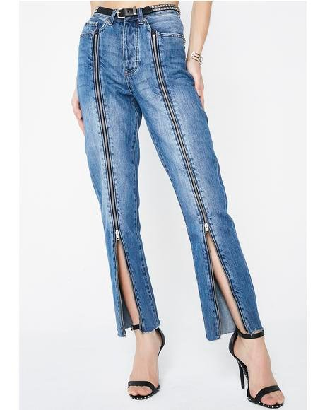 Siren Zipped Jeans