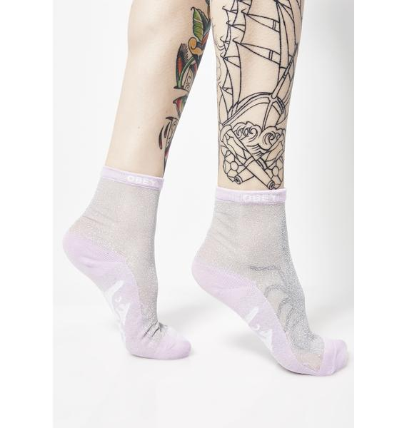 Obey Orchid Downtown Socks