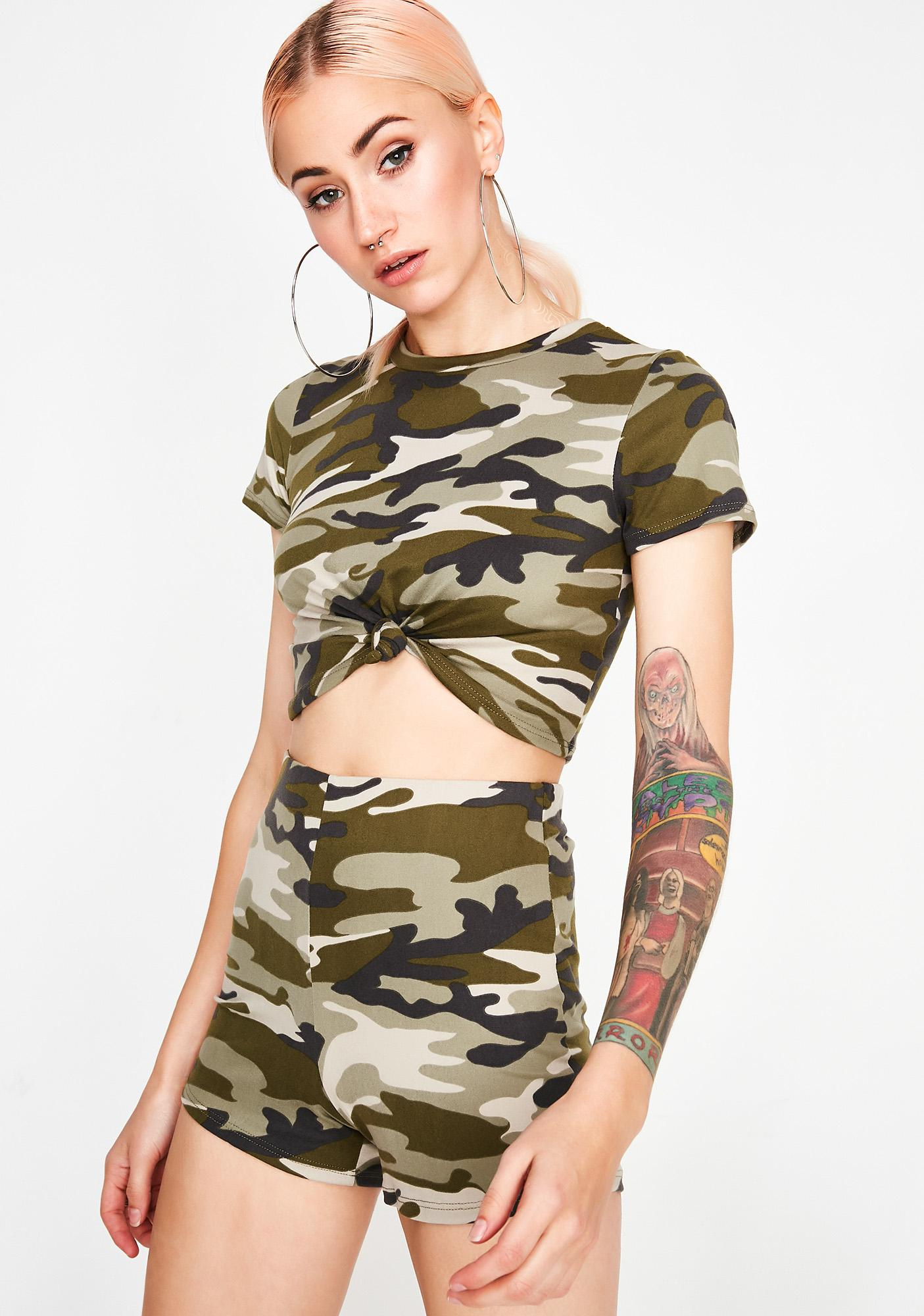 8b2c863c36b22b Camo Print Short Set | Dolls Kill