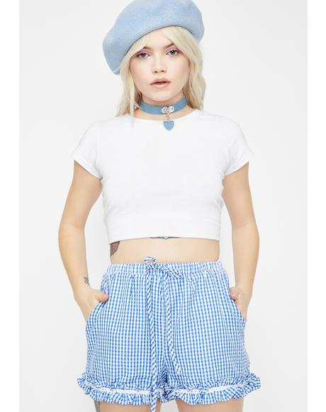 Sapphire Sweet Daze Gingham Shorts