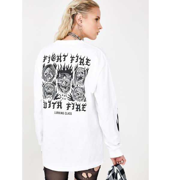 Lurking Class Fight Fire Long Sleeve Tee