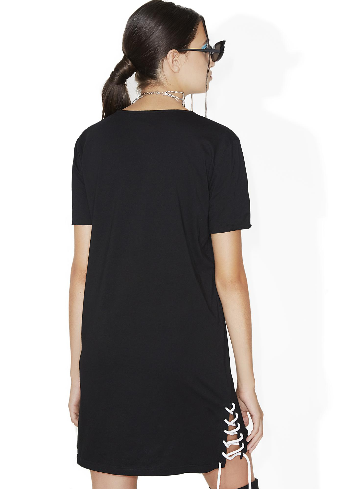 Nana Judy Oxford Side Lace Tee-Shirt Dress
