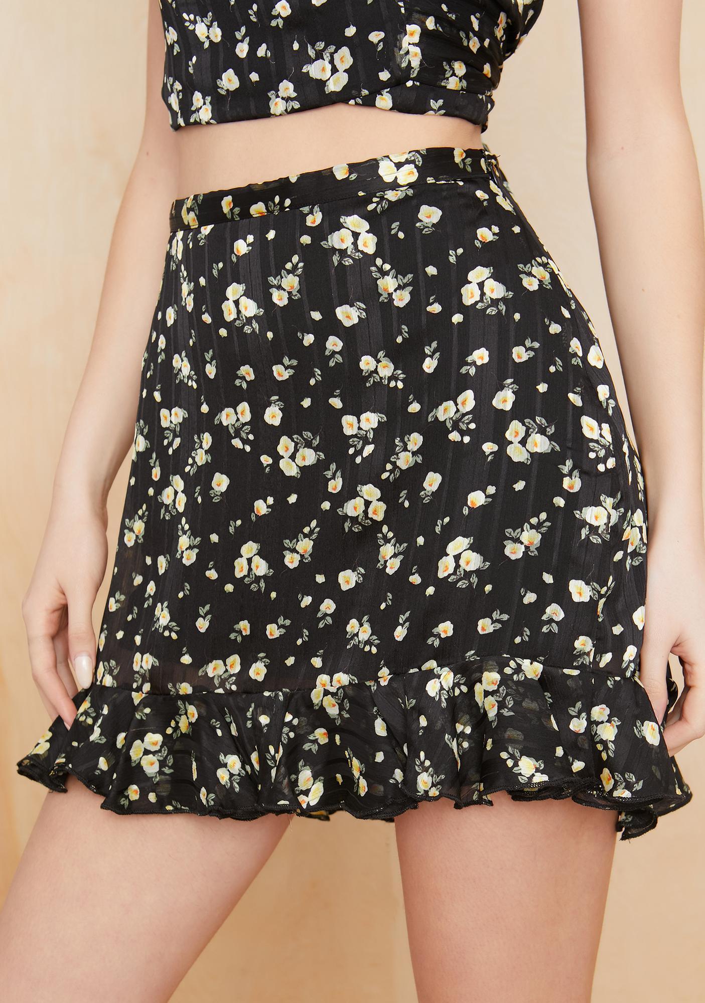 Current Mood Hippie Habitat Floral Skirt