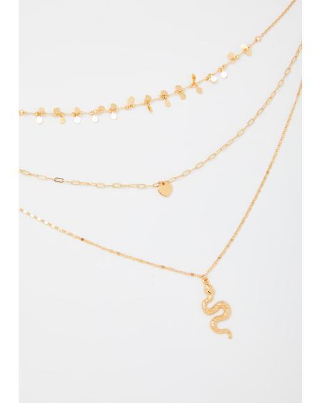 Snake Baddie Layered Necklace
