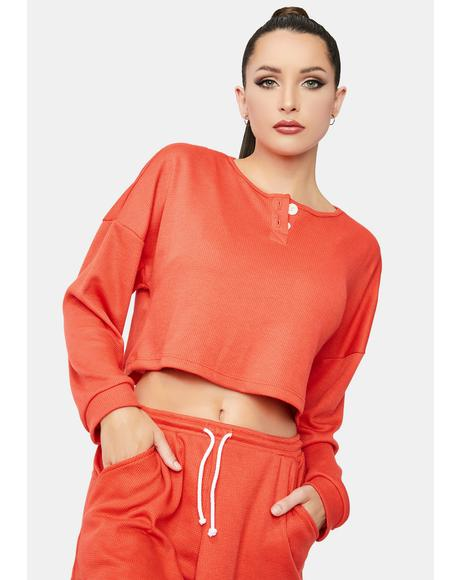 Tangerine Scout Top
